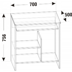 Стол компьютерный СК-01 (схема)